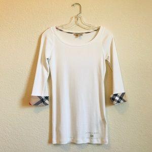 White Burberry Long Sleeve